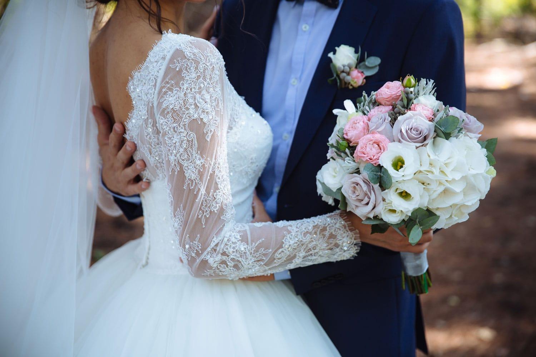 Hochzeitsfloristik - Hochzeitsstrauß rosa