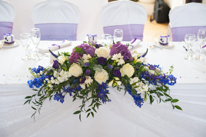 Hochzeitsfloristik - Tischgesteck bei Hochzeit