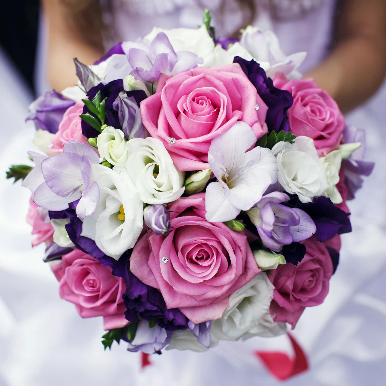 Hochzeitsfloristik - Blumenstrauß bei der Hochzeit